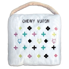 Chewy Vuiton White Dog Bed