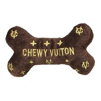 Chewy Vuiton Bone Dog Toy