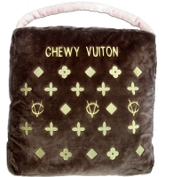 Chewy Vuiton Brown Dog Bed