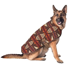 Chilly Dog Brown Southwest Blanket Sweater