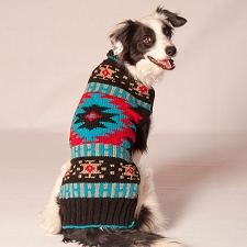 Navajo Shawl Dog Sweater by Chilly Dog