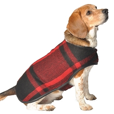 Red Plaid Blanket Coat by Chilly Dog