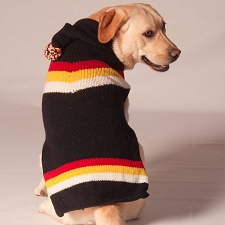 Retro Ski Hoodie Dog Sweater