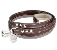 Royal Leather Dog Leash - Chocolate