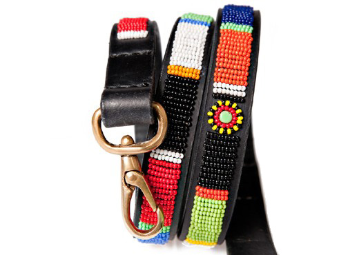African Dog Collar Leash Kenyan Collection