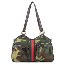 Costa Mesa Camo Stripe Dog Purse