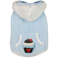 Cozy Cupcake Dog Hoodie- Blueberry