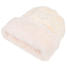Cuddle Cup Dog Bed - Cream Shag