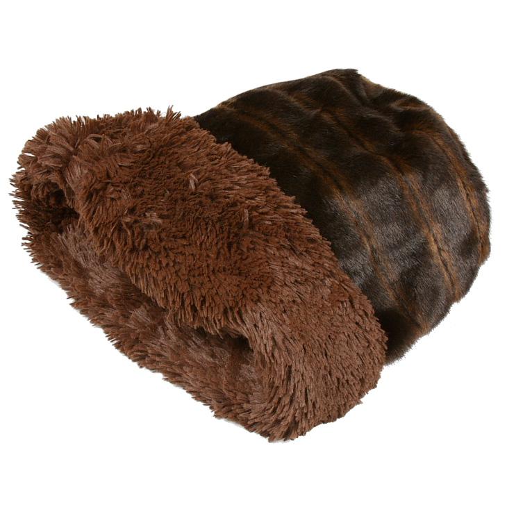 Susan Lanci Cuddle Cup Dog Bed Chocolate Shag Designer