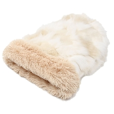 Cuddle Cup Dog Bed - Cream Fox with Camel Shag