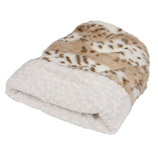 Cuddle Cup Dog Bed -Arctic Snow Leopard with Ivory
