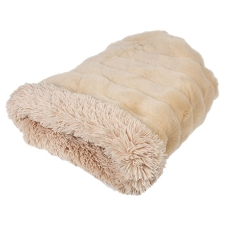 Cuddle Cup Dog Bed- Camel Mink with Camel Shag