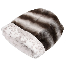 Cuddle Cup Dog Bed -Platinum Chinchilla with Snow Leopard