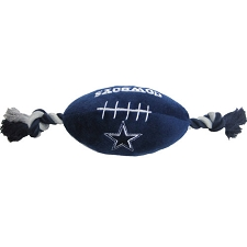 Dallas Cowboys Plush Football Dog Toy