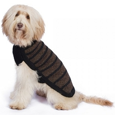 Dapper Handknit Alpaca Dog Sweater