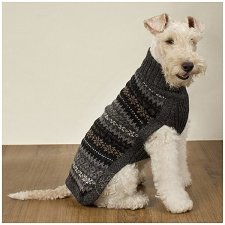 Dark Fall Medley Alpaca Dog Sweater