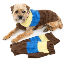 Deer Valley Wool Dog Sweater - Chocolate