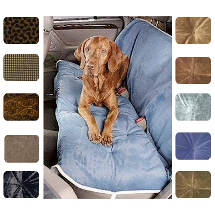 Microvelvet Dog Car Seat Covers Luxury Colors