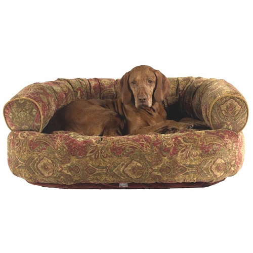 Double Donut Dog Bed by Bowsers Duke : Microvelvet Dog Beds at GlamourMutt.com