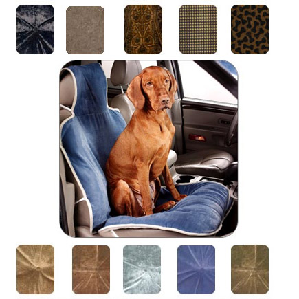 Microvelvet Front Seat Covers Luxury Travel For Dogs