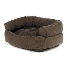 Microvelvet Double Donut Dog Bed Sofa - Houndstooth