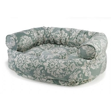 Microvelvet Double Donut Dog Bed Sofa - Spa