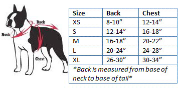 Dog Boutique Size Chart