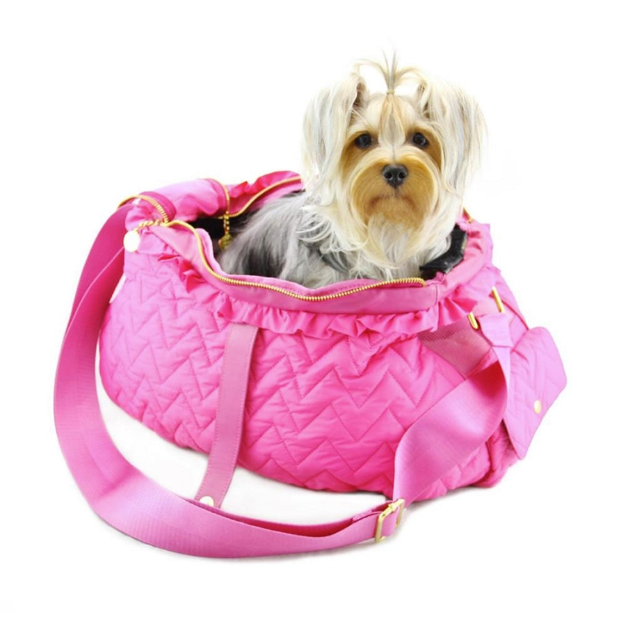 Dogs Of Glamour Fab Messenger Dog Carrier In Pink