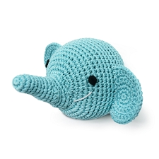 Elephant Crochet Dog Toy