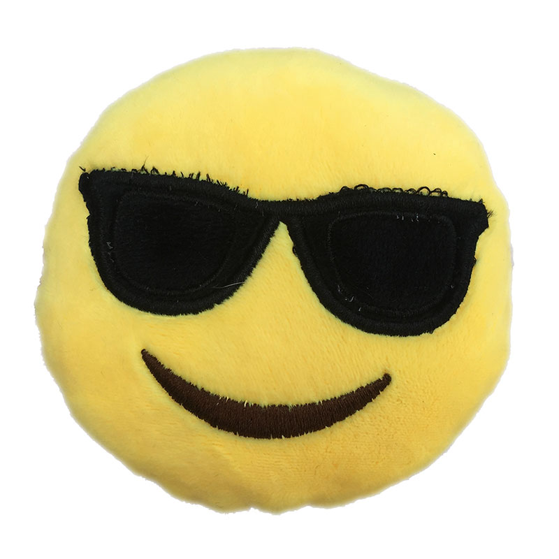 Cool Sunglasses Emoji Dog Toy