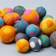 Fair-Trade Boiled Wool Ball Toys