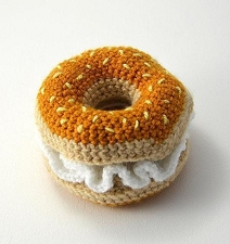 Fair-Trade Crochet Toy- Bagel & Cream Cheese