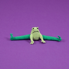 Fair-Trade Crochet Dog Toy- Frog