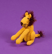 Fair-Trade Crochet Dog Toy- Lion