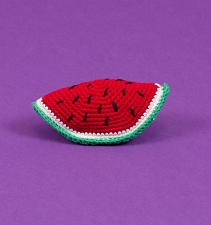 Fair-Trade Crochet Dog Toy- Watermelon