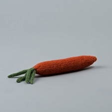 Fair-Trade Handknit Dog Toy- Carrot