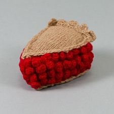 Fair-Trade Handknit Dog Toy- Cherry Pie