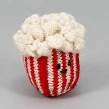 Fair-Trade Handknit Dog Toy- Popcorn