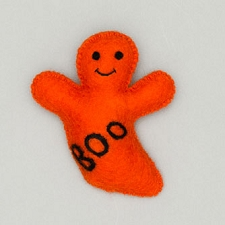 Fair-Trade Wool Dog Toy- Ghost