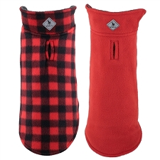 Fargo Fleece Dog Jacket- Red Buffalo