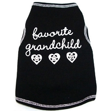 Favorite Grandchild Dog Shirt with Swarovski Crystals