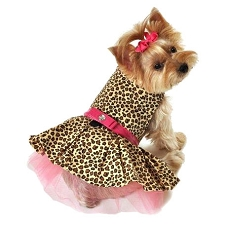 Fierce Leopard Tutu Dog Dress