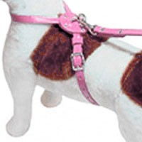 Figure Eight Leather Dog Harness - Peony Pink