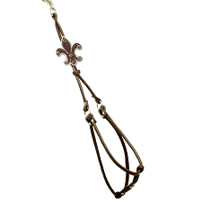 Fleur de Lis Step-In-Harness -Brown