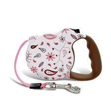 Floral Fling Retractable Dog Leash