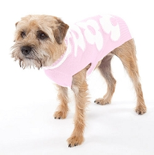 Floral Wool Dog Sweater - Pink