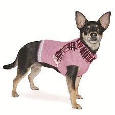 Foxy Scarf Cashmere Dog Sweater- Pink