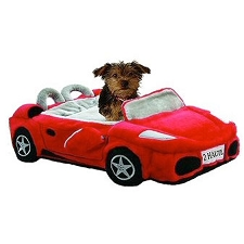 Furrari Sports Car Red Dog Bed