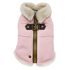 Furry Runner Coat- Pink