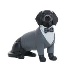 Gentleman Lab Dog Sculpture